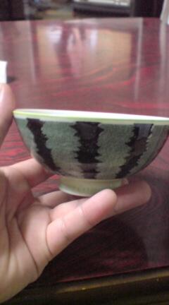 スイカ茶碗