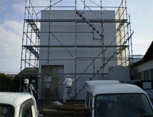 土々呂町に建設中のCasa Cube