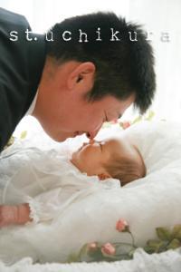 みそらちゃん1ヵ月 と パパ